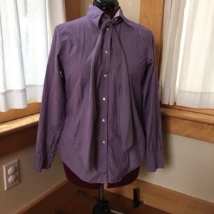 GAP purple striped tie front button up